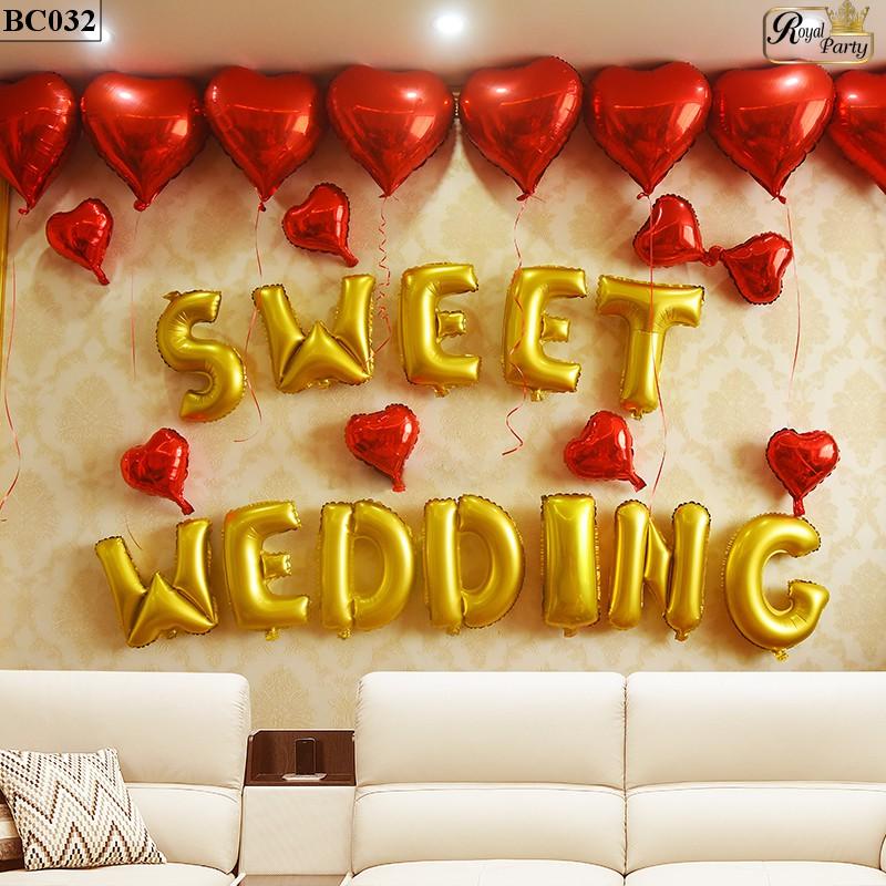 bộ bóng bay trang trí đám cưới, lễ thành hôn