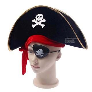 Combo mũ hải tặc và mắt chột