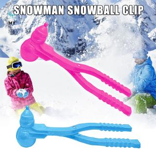 Snowman Shaped Snowball Maker Clip Children Outdoor Winter Snow Sand Mold Tool Toy Easy to Use