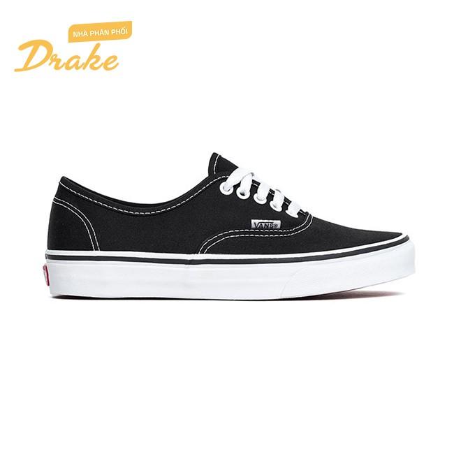 [Mã MABR44XANH hoàn 15% xu đơn 350000] Giày sneakers Vans Authentic Black Canvas VN000EE3BLK