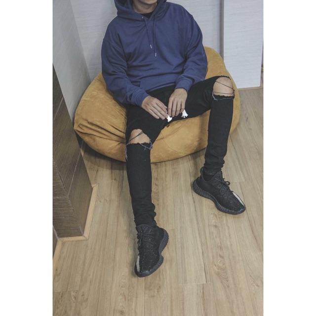 áo hoodie xanh navy trơn unisex - áo khoác nỉ bông hoodie basic navy blue -  hoodie chui đầu thời trang nam nữ phong cách   Lazada.vn