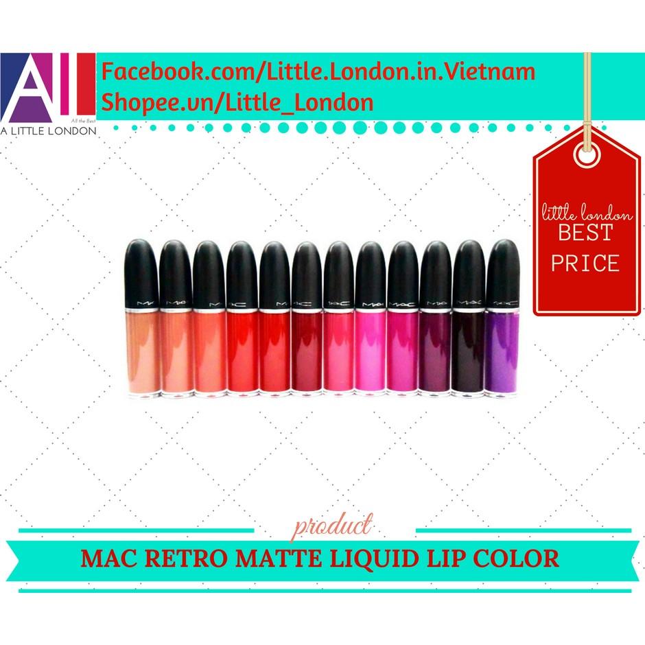 Son kem MAC Retro Matte Liquid Lip Color (bill Anh) - 2980479 , 143796772 , 322_143796772 , 569000 , Son-kem-MAC-Retro-Matte-Liquid-Lip-Color-bill-Anh-322_143796772 , shopee.vn , Son kem MAC Retro Matte Liquid Lip Color (bill Anh)