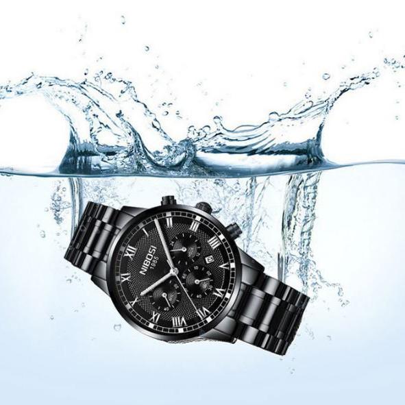 [Tặng vòng tay]Đồng hồ nam NIBOSI chính hãng NI2339 dây thép đúc đặc cao cấp