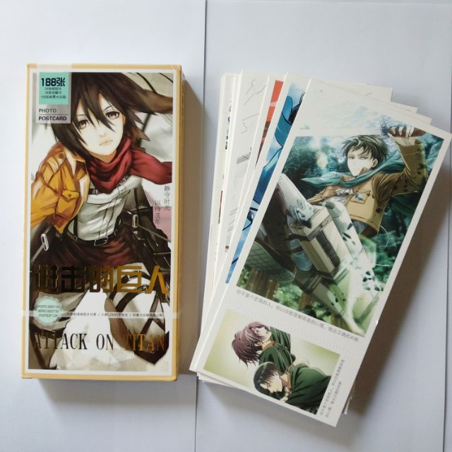 Bộ share post card Attack On Titan 3in1 188tấm