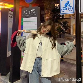 Cùng một đoạnMùa xuân và thu áo khoác mỏng mới nữ sinh hoang dã phiên bản Hàn Quốc của bóng chày dụng cụ rộng rãi