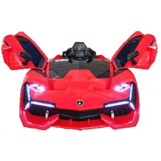 Ô tô xe điện NEL-603 đồ chơi vận động cho bé 2 động cơ kèm nhún (Đỏ-Vàng-Xanh)