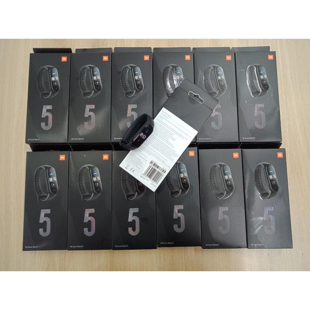 (BẢO HÀNH 12 THÁNG)Vòng tay theo dõi sức khoẻ Xiaomi Mi Band 5 / Đồng hồ thông minh Miband 5- Quốc Tế