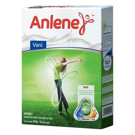 Sữa bột Anlene Movepro Hương Vanilla hộp 440g (Từ 19 đến 45 tuổi)
