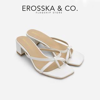 Dép cao gót Erosska xo ngo n phối dây kiểu dáng Hàn Quốc cao 5cm màu trắng _ EM075 thumbnail