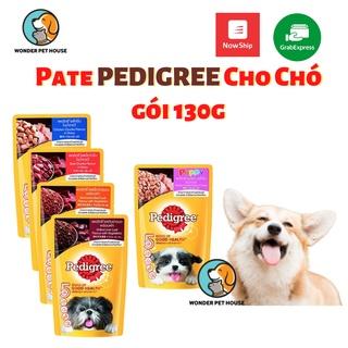 Pate Pedigree cho chó con, chó lớn gói 130g đủ vị thơm ngon bổ dưỡng thumbnail
