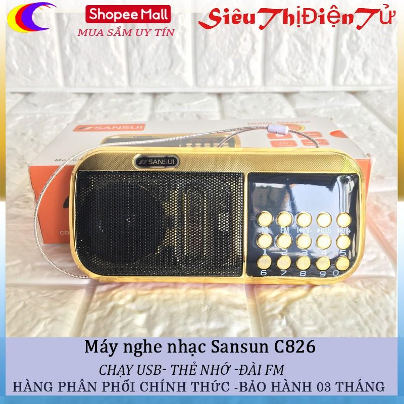 Loa nghe nhạc Sansun C826 hỗ trợ thẻ nhớ USB đài FM