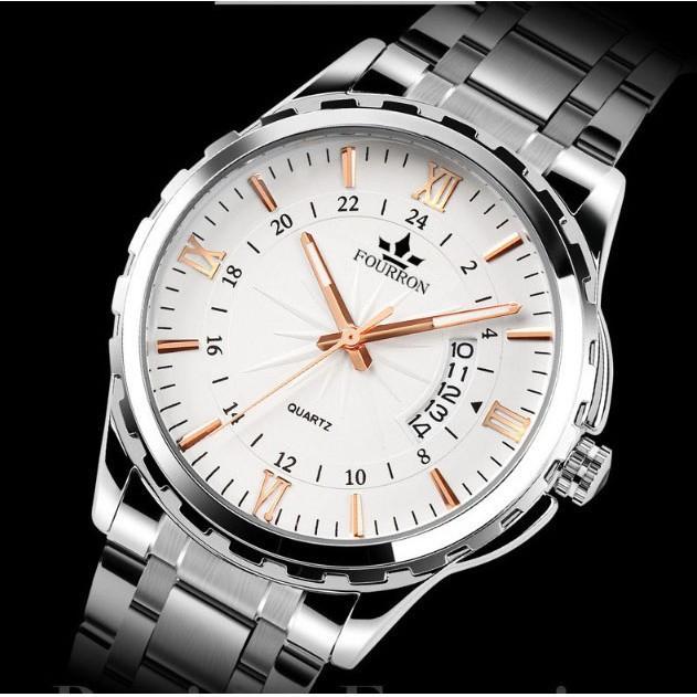 Mô tả sản phẩm Đồng hồ nam Fourron 688 dây thép không gỉ cao cấp (chọn màu)