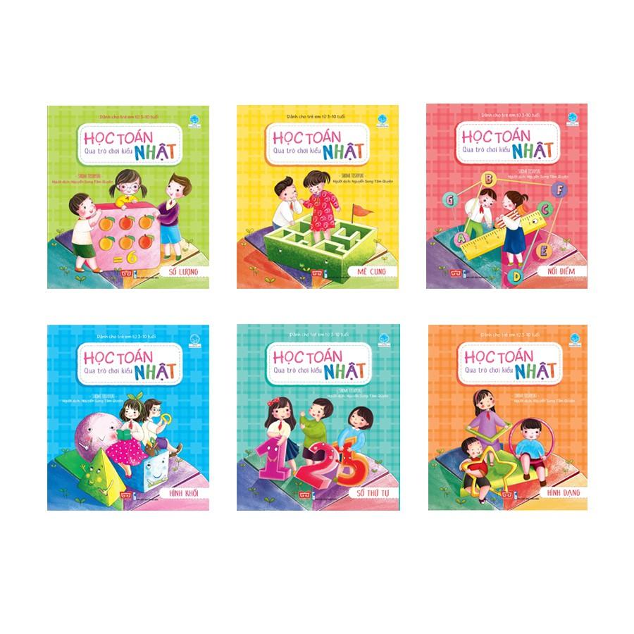 Sách - Học toán qua trò chơi kiểu Nhật (Trọn bộ 6 cuốn)