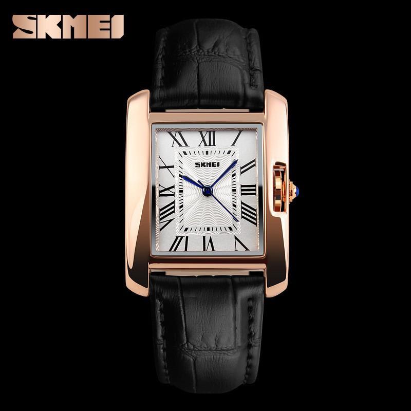 Đồng hồ nữ Skmei dây da mặt chữ nhật