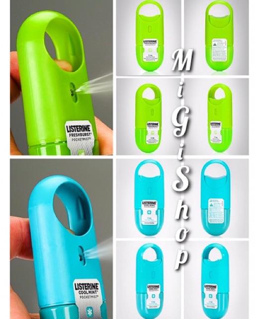 [Hàng Mỹ] Xịt Thơm Miệng Listerine Pocketmist 7,7ml