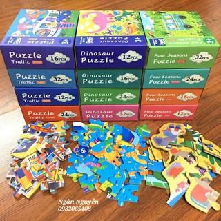 Đồ chơi thông minh- Bộ 4 hộp puzzle nhiều cấp độ