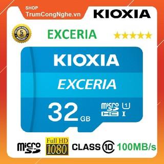 [Mã ELFLASH5 giảm 20K đơn 50K] Thẻ nhớ 32GB KIOXIA (Toshiba) Exceria microSDHC Class10 100MB/s Tốc Độ Cao