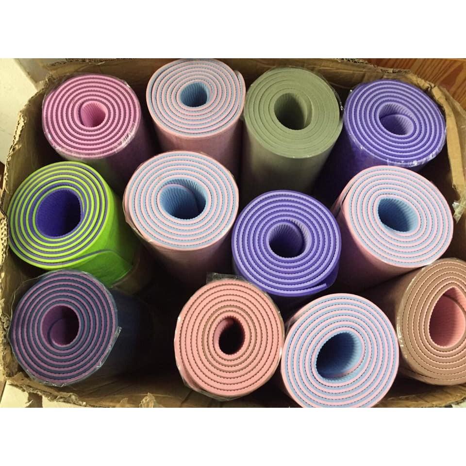 (Hàng đẹp giá yêu) Thảm yoga 2 mặt