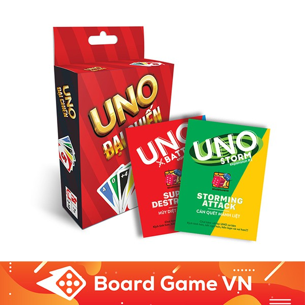 [Nhập TOYBGVN giảm 15%]Combo bài UNO Đại Chiến và 2 bản mở rộng BoardgameVN