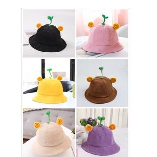 SỈ, LẺ Mũ Nón Maruko 3D size to,Rộng Vành Nhiều Kiểu Mầm Cây Bucket Hat Ulzzang Kaki Nhung Siêu Cute