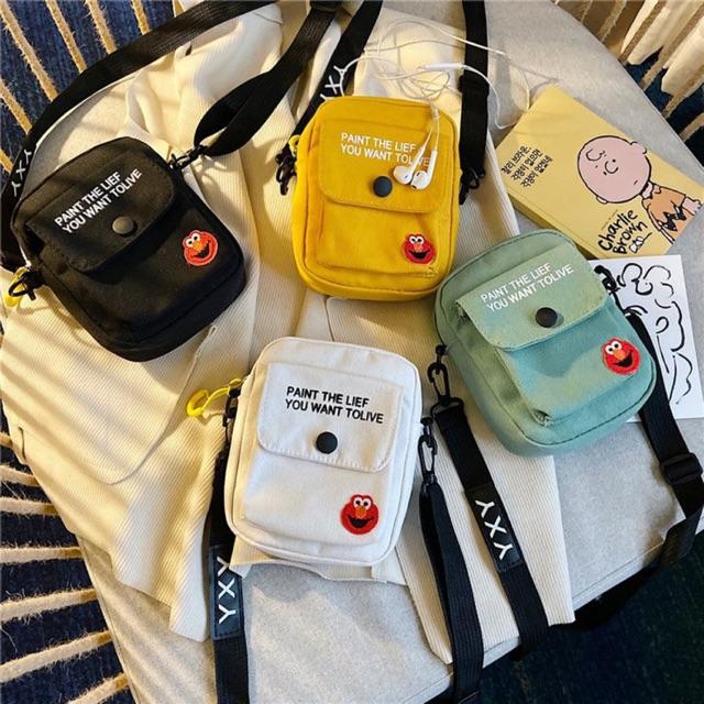 Túi xách tote vải đeo chéo BROKEN TV31
