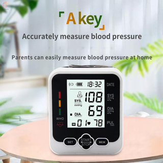 ET Electronic Blood-Pressure Monitor Home Use Wrist Type Sphygmomanometer Digital LCD Blood-Pressure Measurement Meter with Heart Rate Detection