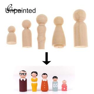 Ciom 5Pcs/Set Unpainted Blank Wooden Family Peg