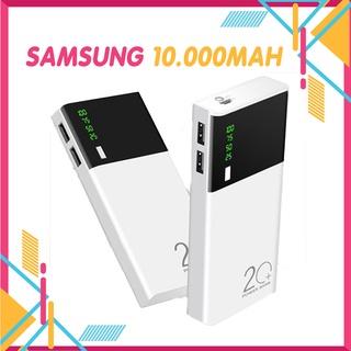 Pin Sạc Dự Phòng Samsung💖Xả Lỗ Xin 5 Sao💖Dung Lượng 10000MAH Có Đèn Pin và hiển thị % pin 5 lõi bảo hành lỗi 1 đổi 1