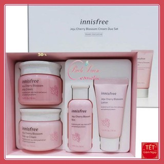 BỘ KEM DƯỠNG TRẮNG DA Bộ Dưỡng Ẩm, Trắng Da Chiết Xuất Lá Hoa Anh Đào Innisfree Jeju Cherry Blossom Cream Duo Set [HOT] thumbnail