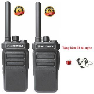 Bộ 2 Bộ đàm Motorola CP988 (Nhỏ gọn, 2 chế độ sạc, Pin dung lượng cao sử dụng >18 tiếng, siêu bền)