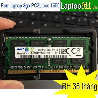 Ram laptop 8GB PC3L bus 1600 ram mới bảo hành ram laptop PC3L bus 1600 8gb