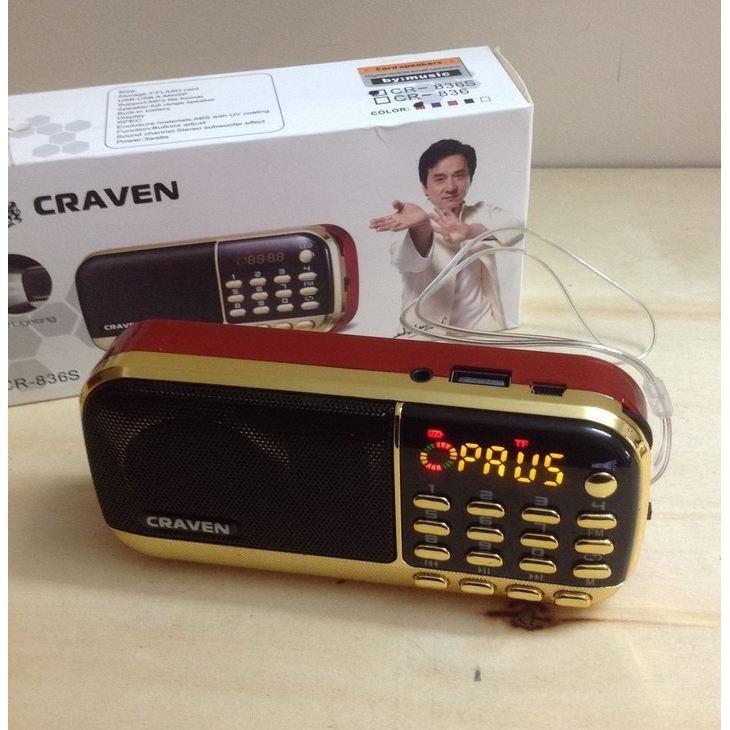 giá sốc] Loa Thẻ Nhớ Nghe Pháp Craven CR-25A (Pin Sạc) | Shopee ...