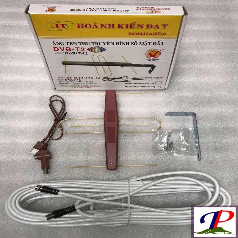 Combo Anten có khuếch đại + dây cấp nguồn 5V + 15m dây đồng trục đúc sẵn đầu jack dùng cho tivi có tích hợp DVB T2