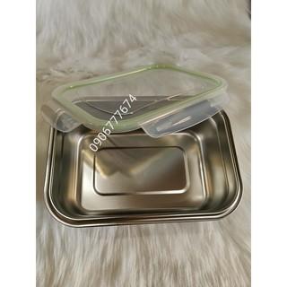 Khay inox dùng để thức ăn tủ mát,tủ đông / Inox cao cấp có nắp