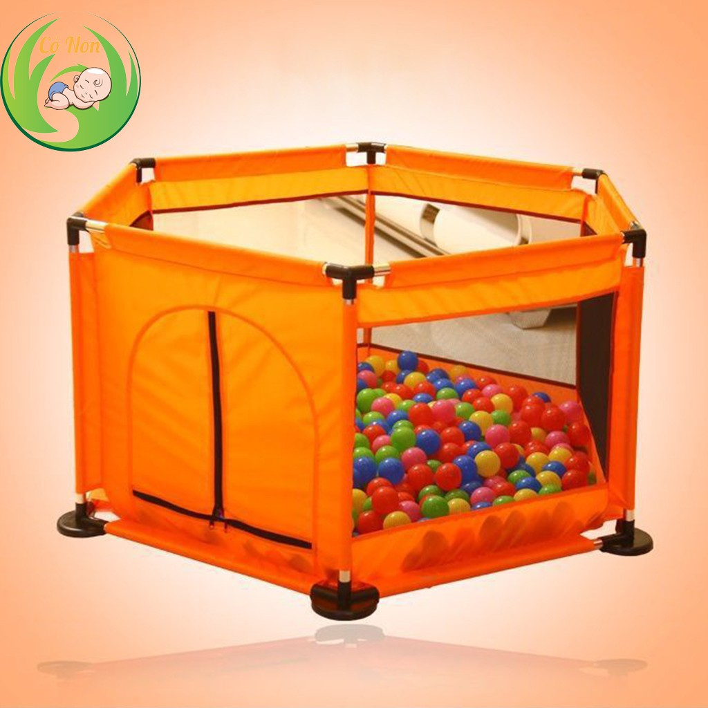 Quây bóng, Lều bóng lục giác cho bé (tặng kèm bóng nhựa đa sắc)