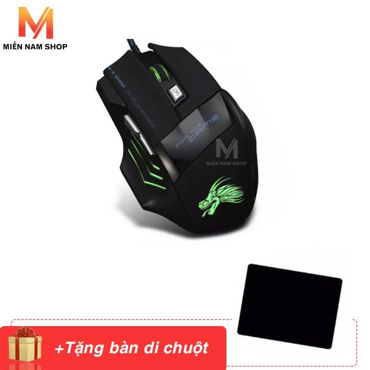 5500DPI Quang USB Chuột Chơi Game Có Dây 6 Nút Game Thủ Chuột Máy Tính + Tặng miếng lót chuột Logitech tiện lợi