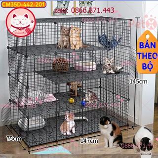 FREESHIP Chuồng mèo 4 tầng giá rẻ đẹp lắp ghép đa năng đơn giản với lưới sắt sơn tĩnh điện thumbnail