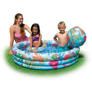 Bể bơi 3 tầng kèm phao và bóng cho bé
