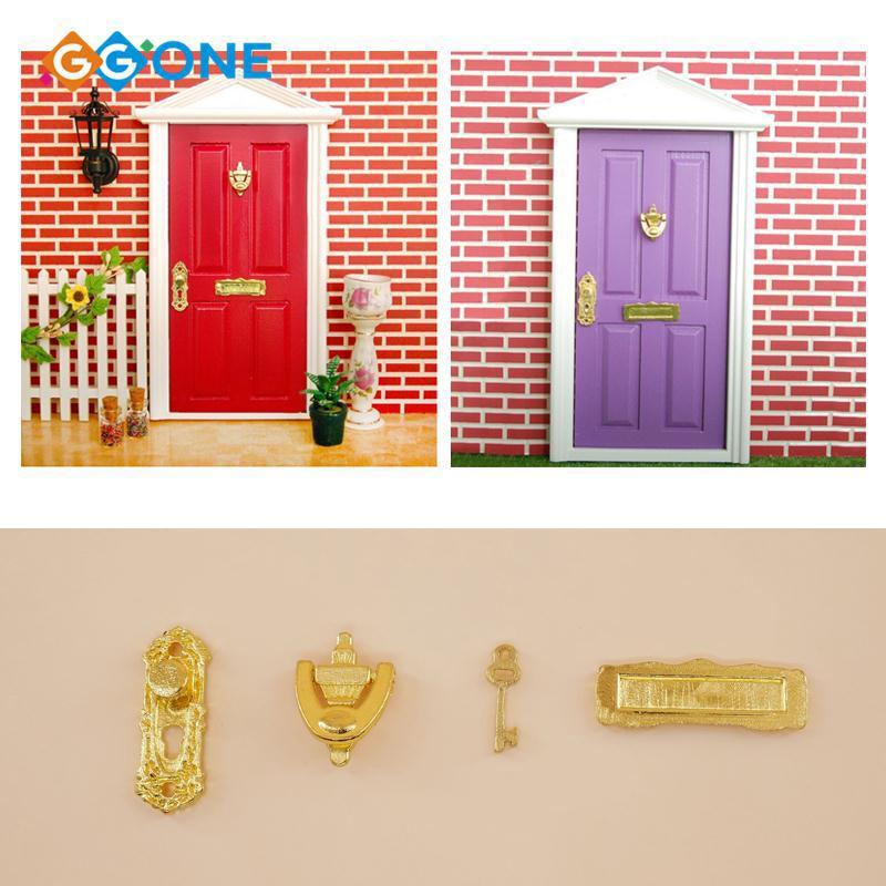 GG① Dolls Supplies Tooth Fairy Door Plastic Christmas Fairy Door Magical Magical Fairy Door