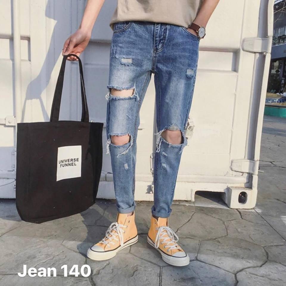 Quần Jean rách gối