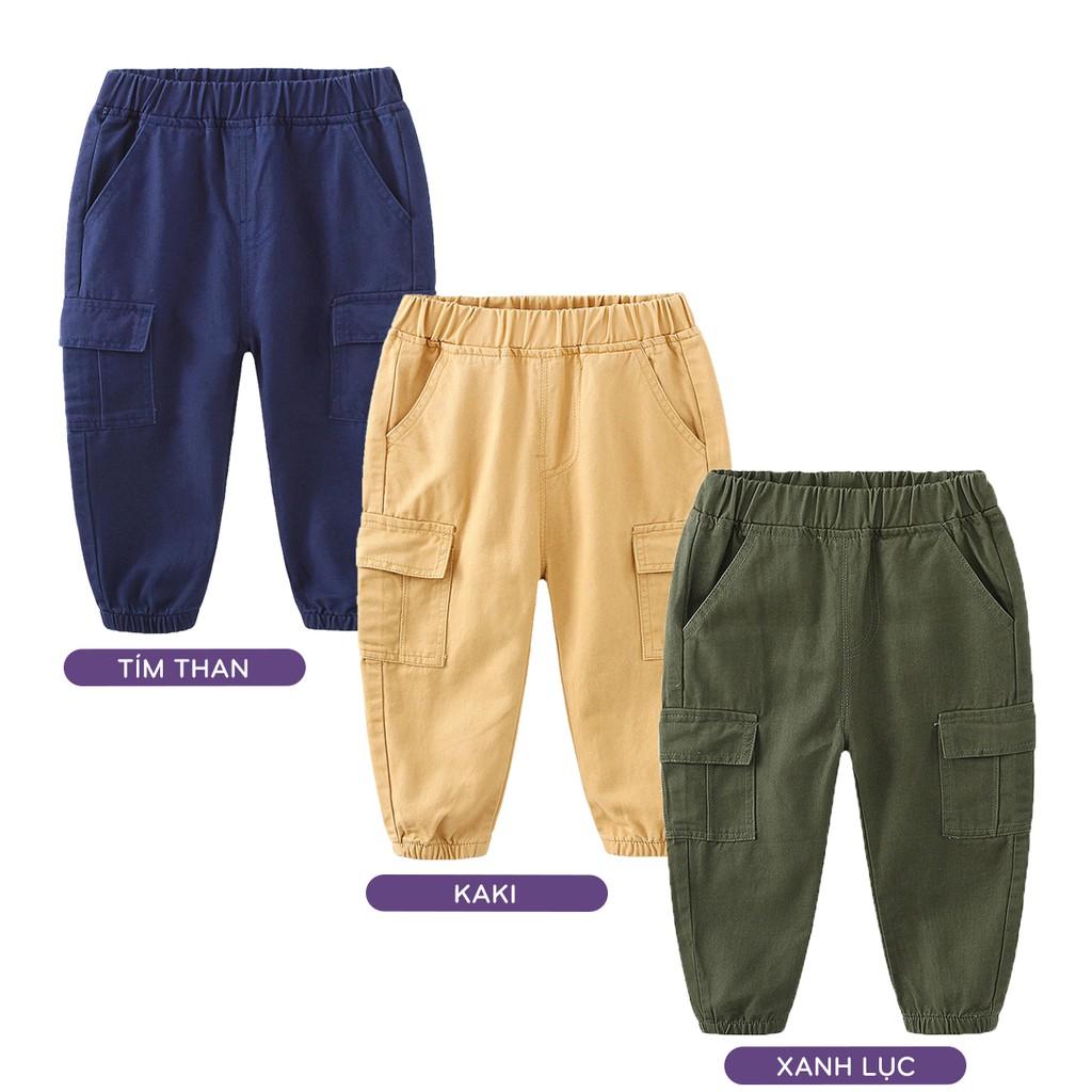 Quần KAKI bé trai WELLKIDS quần dài cho bé chất vải kaki hàng xuất Âu Mỹ