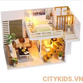 Bộ mô hình lắp ghép DIY- Ngôi nhà xinh xắn K-031 ( tặng kèm mica+ keo)