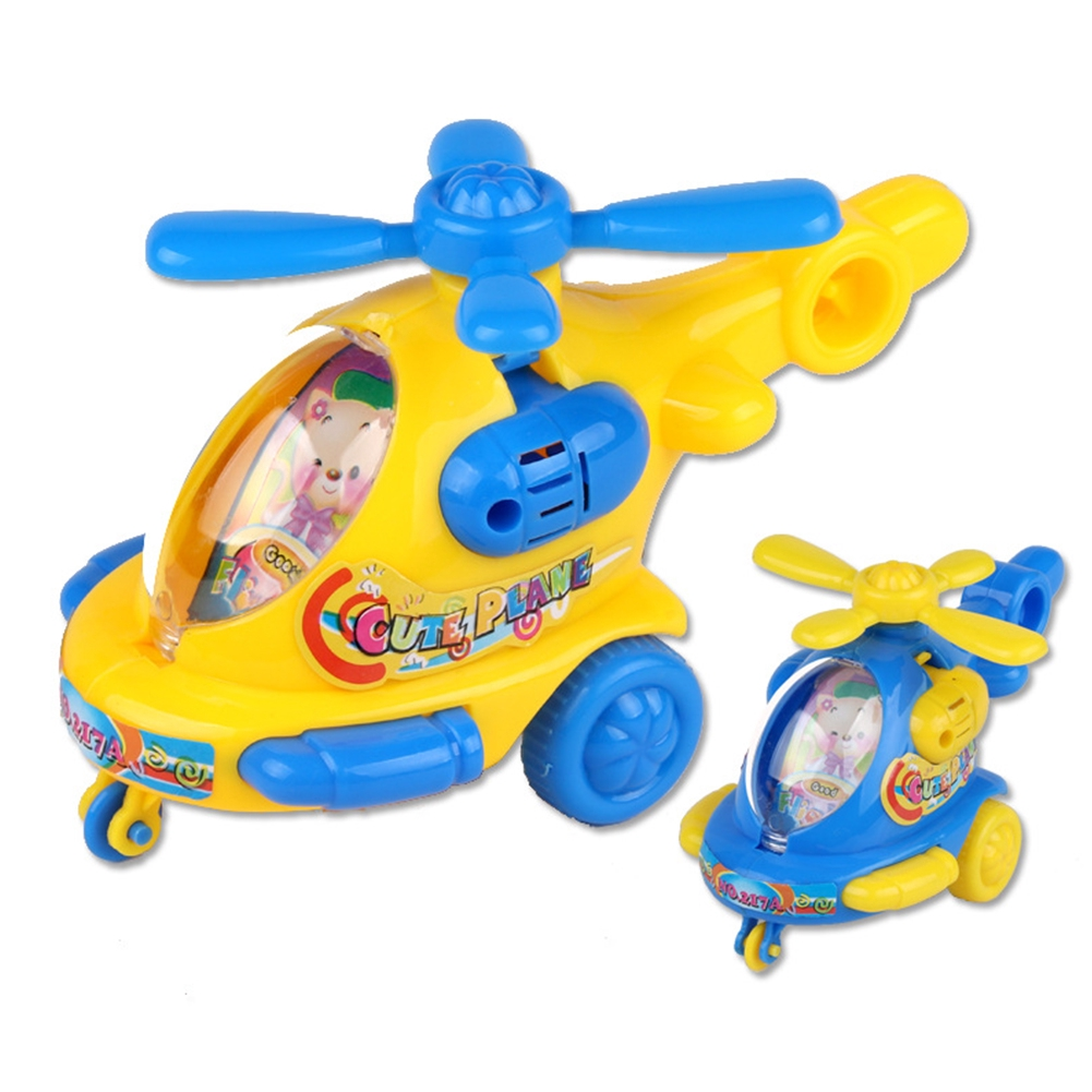 Pull Rope Flying Children DIY Clockwork Cartoon Classic Wind Up Toy Helicopter