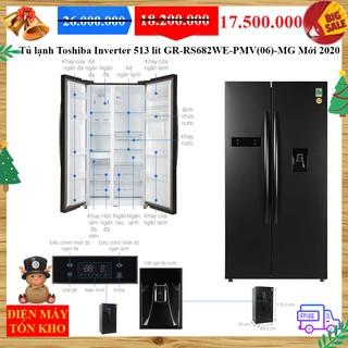 Tủ lạnh Toshiba Inverter 513 lít GR-RS682WE-PMV(06)-MG Mới 2020