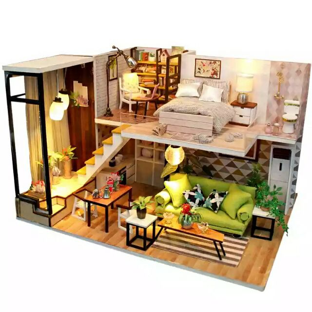 Kèm mica và Romote điều khiển từ xa – Mô hình nhà gỗ búp bê Dollhouse DIY – M030 Romantic Europe