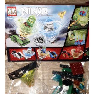 Lắp ráp 1 hộp LegoNinja Lốc xoáy 61027 có nhiều chi tiết bằng nhựa ABS