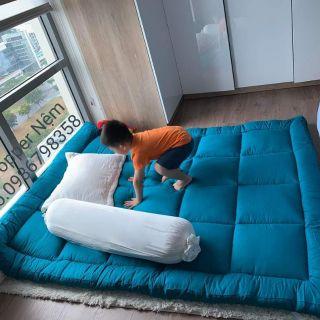 Nệm TOPPER dày 6~7cm/ Nệm trải sàn ngủ gấp gọn giá rẻ.