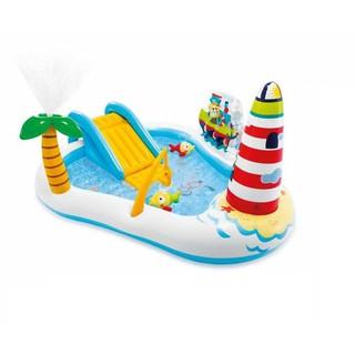 Bể bơi phao cầu trượt phun mưa hồ câu cá Intex 57162