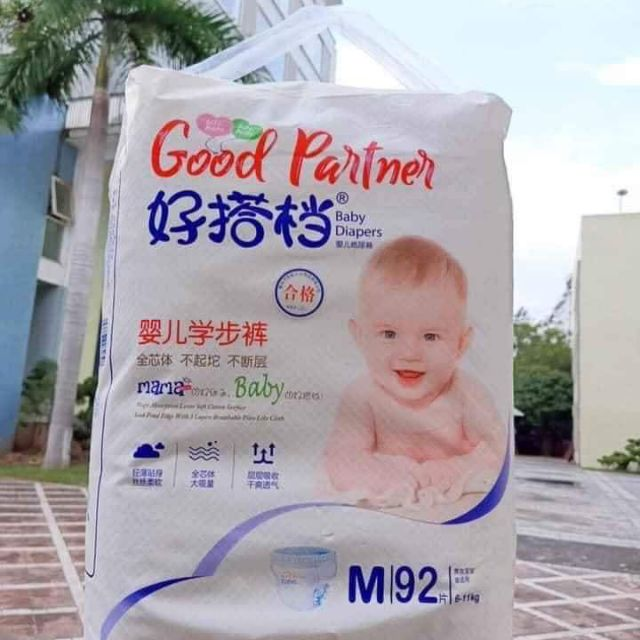 Tã quần Good partner size M (92miếng) L ( 82miếng)