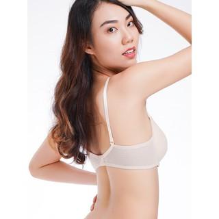 [Mã MABR07061 giảm 8% tối đa 20k đơn 99k] Áo ngực Misaki mút mỏng cúp ren phối dây lưng lưới - 9107 thumbnail